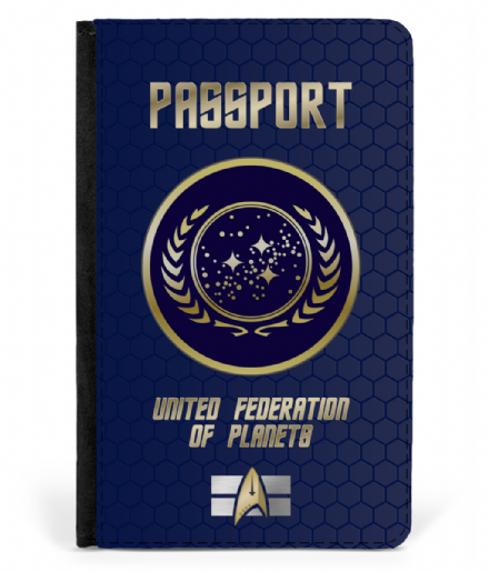 United Federation of Planets Faux Leather Passport Cover Protector Inspired by Star Trek